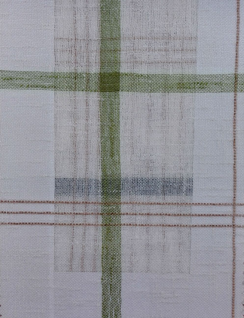 Pattern Plaid Linen Sheer and Voile Curtains