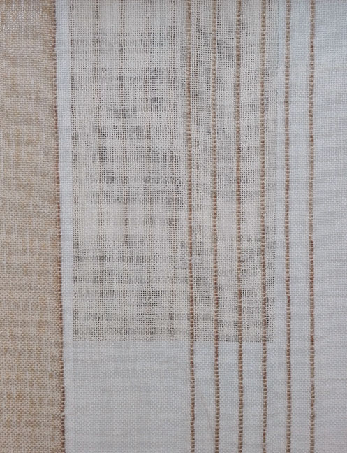 Pattern Stripe Linen Sheer and Voile Curtains