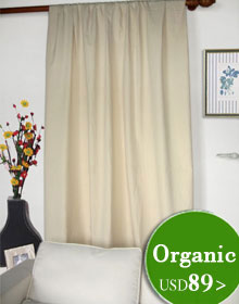 Organic Cotton, Linen Cotton Curtains and Drapes